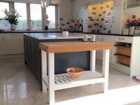 Stunning solid and chunky kitchen unit