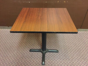 Cheap Restaurant & Cafe Tables With Cast Iron Base
