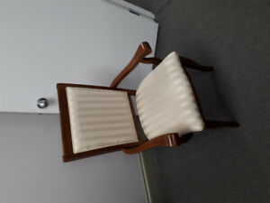 ANTIQUE-STYLE CHAIR -- SOLID WOOD CONSTRUCTION, $30