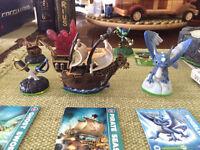 Skylanders Portal + Manual + Wii Game + 6 Skylanders + 5 Cards.