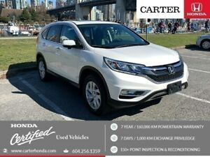 2015 Honda CR-V EX-L + SPRING CLEARANCE + CERTIFIED + NO ACCIDEN