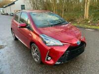 2018 Toyota Yaris 1.5 Hybrid VVT-h Excel E-CVT 5dr Damaged Salvage Repairable