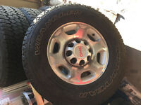 Goodyear Wrangler Mud and Snow tires and Rims LT265/70R17 10 Ply