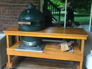Green egg barbecue