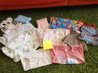 Baby girl little bundle of clothes age 12-18 months