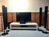 LG 37' TV with Home theater & TV bench