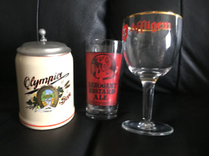 Affligem & Arrogant Bastard Ale Beer Glasses