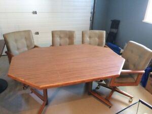 42 x 42 octangular table with 18 inch leaf