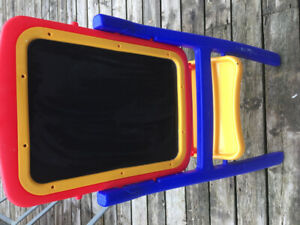 Kids toy easel. Whiteboard & chalkboard
