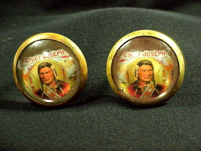 Pair of Antique CHIEF JOSEPH - NEZ PERCE BRIDLE ROSETTES