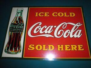 Coca-Cola Metal Sign.