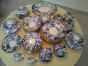 ROYAL CROWN DERBY BLUE MIKADO CHINA
