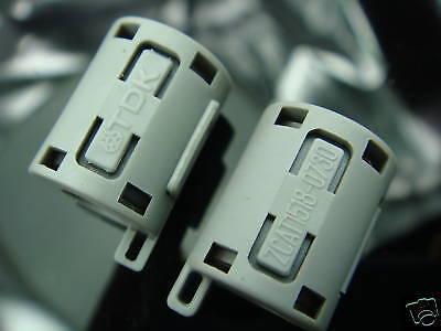 10p Tdk 7mm Clip On Emi Rfi Filter Snap Around Ferrite Zcat1518-0730