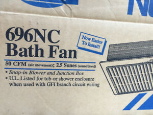 Never used NuTone bathroom exhaust fan in Box