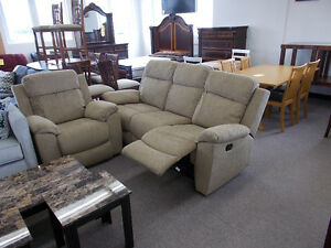 Reclining sofa and matching recliner. NEW! Sale $999.