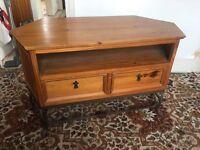 Wooden corner tv stand. Wooden furniture