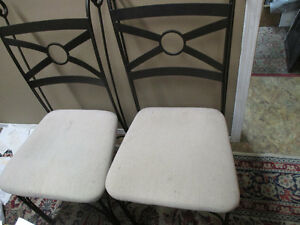wrought iron upholstered dining kitchen chairs Kitchener / Waterloo Kitchener Area image 2