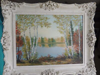 Listed Canadian artist landscape oil painting.