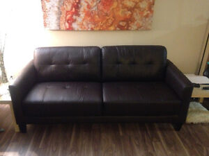 $625 OBO genuine leather couch, NEW