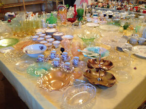 Large Collection of Antique Glassware, Cups & Saucers, etc.