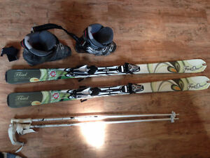 Set of Head First One SKIs, Poles Boots and Carry Case