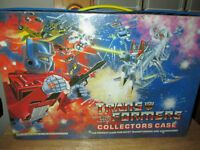 ***VINTAGE 1984 TRANSFORMERS COLLECTORS CASE IN GREAT SHAPE!!!**