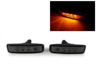 DEPO Smoke Smoked Fender LED Side Marker Light Lamp For 1997-03 BMW E39 (5 Series Smoked Fender)