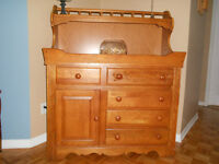 oak buffet/hutches