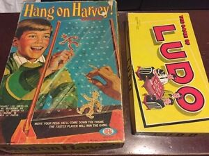Vintage Board Games - Hang on Harvey and Ludo