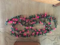 Ivy garland with LED berry lights 7m