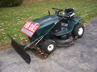 42 in cut rider snow plow