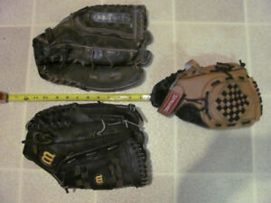 Ball gloves $12 - $22 at Fredericton Flea Market