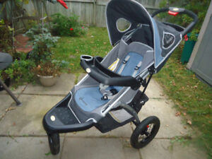 InStep Suburban Safari Jogging Stroller Grey/Blue