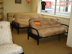 Brand New Futon Frame With Futon On spacial price in silver colo