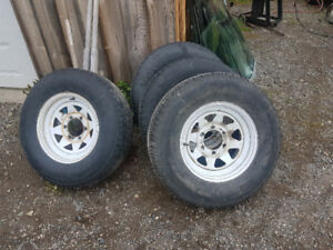 15 inch trailer tire anf rims