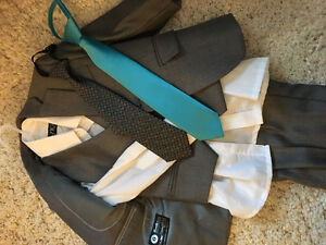 2T ring bearer 3 piece grey suit
