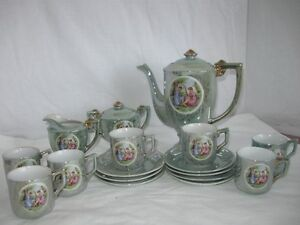 Vintage Porcelain Expresso Coffee Set