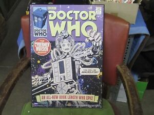 DR. WHO BBC CYBERMAN INVASION WOOD SIGN $40.00 EA.
