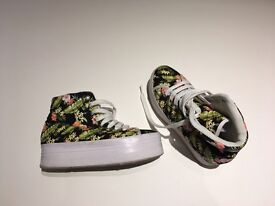 Jeffrey Campbell floral canvas Platform Sneakers.