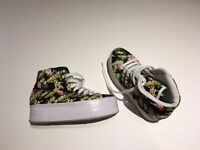 Jeffrey Campbell floral canvas Platform Sneakers.