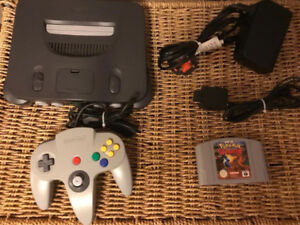 N64 with one controller and pokemon stadium