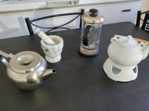 Kitchen items tea and coffee