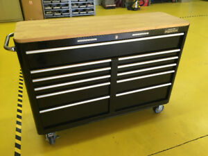 "Blk Mastercraft Max. 56"" 11 Drawer Rolling Toolbox CTC#58-0896-2"