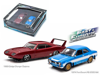 - THE FAST AND FURIOUS DODGE CHARGER ESCORT RS DIORAMA SET 1/43 GREENLIGHT 86251