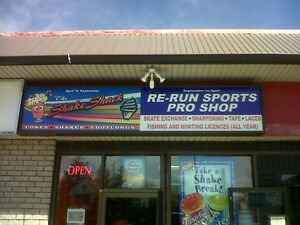 Aluminated store front sign,12 ft Long X 30 inches wide