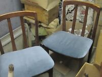 SET OF 4 MID MODERN TEAK DININGROOM CHAIRS $80.00