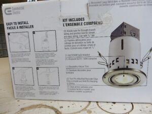 Boite de 5 luminaire encastré avec ampoule
