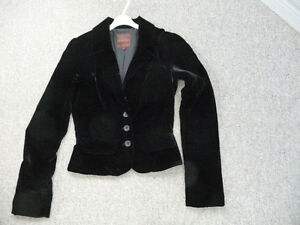 """Like New"" Black Velvet Jacket - Size 0"