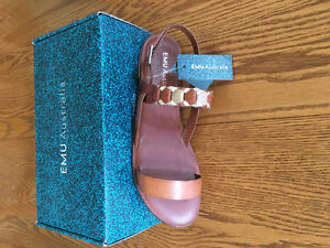 Women's Shoes - 2 Pairs Brand New Leather Emu Sandals size 11