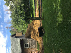 Free broken bales hay and straw